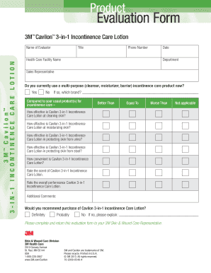 picture relating to Printable Skin Assessment Form referred to as Fillable On-line Solution Examination Style for Cavilon Just one-Phase