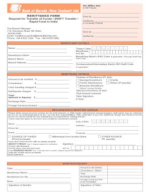 bank remittance form