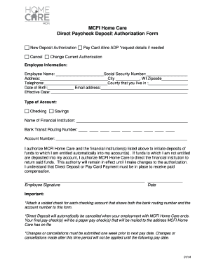 Direct Deposit Authorization Form Adp Edit Online Fill Out