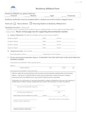 Page 1 residency affidavit form reason for affidavit use please preview of sample form rating altavistaventures Choice Image