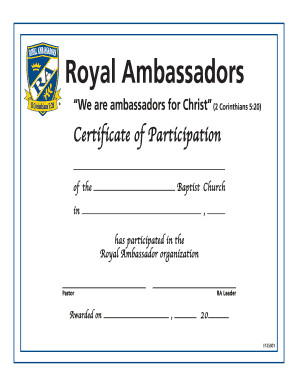 royal ambassadors form