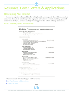 Resumes, Cover Letters &amp