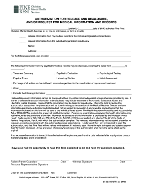 8 Printable Medical Record Authorization For Release Of