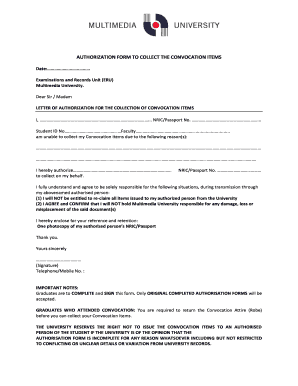Authorisation Letter To Collect Documents Forms And Templates