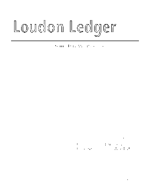 1 The Loudon Ledger PUBLISHED BY THE LOUDON COMMUNICATIONS COUNCIL September 2009 Volume 11, Issue 9 I Inside This Issue 2 3 4 5 6 8 9 10 11 12 13 14 15 16 19 20 21 22 23 24 28 30 Upcoming Events at Loudon Churches Recycling Committee Raf
