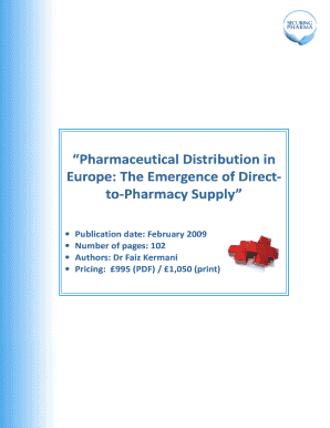 Pharmaceutical Distribution in Europe: The Emergence of Direct-to-Pharmacy Supply - report details