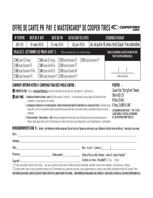 Fillable Online Ct3505 Spring Rebate Form Cafr Cooper Tires Fax