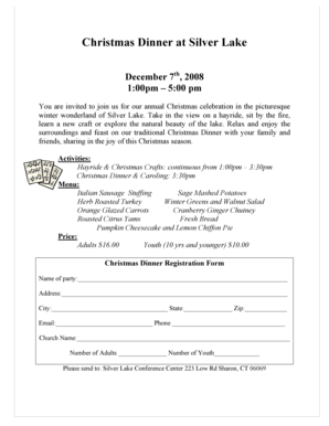 Christmas dinner flyer 2008 - ctucc