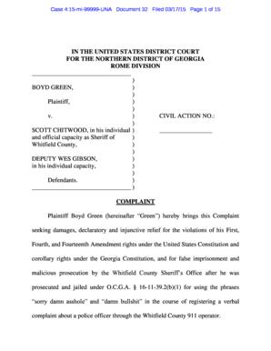 Fillable Online schr Case 415mi99999UNA Document 32 Filed