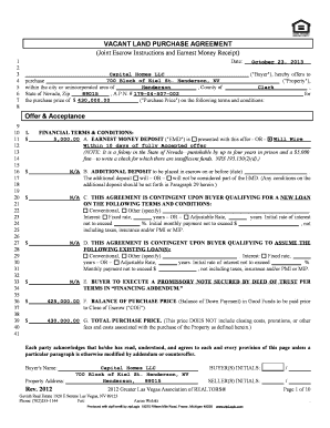 125 Printable Land Purchase Agreement Forms And Templates