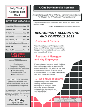 Download the Brochure - Restaurant Accounting and Controls ...