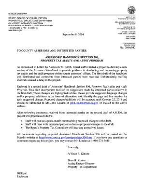 Assessors Handbook Section 506 Property Tax Audits and Audit Program Assessors Handbook Section 506 Property Tax Audits and Audit Program