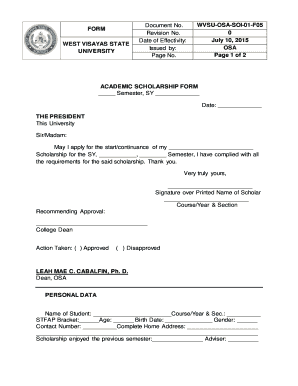 application form of wvsu