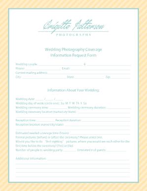 Wedding Photography Contract.6 Printable Wedding Photography Contract Pdf Forms And Templates
