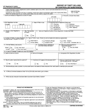 Fillable Online DEA Form 106 - Rx-wiki Fax Email Print - PDFfiller