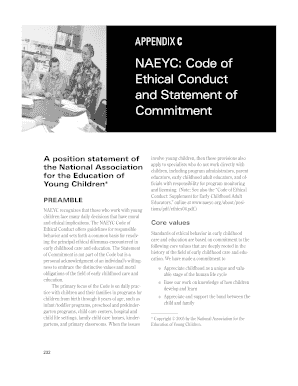 naeyc code of ethics for teachers