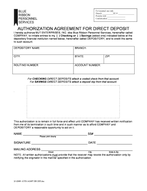 DIRECT DEPOSIT AUTHORIZATION FORM. Use this form to complete an authorization for the Social Security Administration (SSA) to release social security number (SSN) verification.