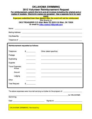 Fillable reimbursement form template - Download Budget, Bussiness