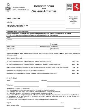Fillable Online Download Parental consent form for Duke of ...
