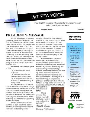 Fillable pta president election speech - Edit Online, Print