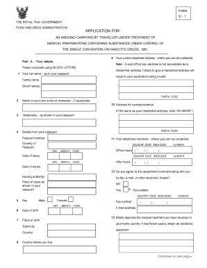 Form Ic 1 - Fill Online, Printable, Fillable, Blank | PDFfiller