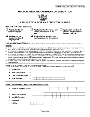 How To Fill Edu1 Form Example Of Filled Form - Fill Online