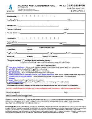 Prior Authorization Form   Mississippi Division Of Medicaid