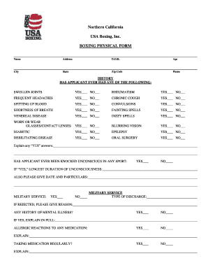 Usa Boxing Physical Form - Fill Online, Printable, Fillable, Blank ...