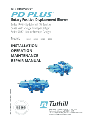 Fillable Online Product Manual for PD Plus 3200 Series