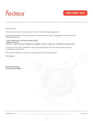 Fedisa Application Forms Fill Online Printable Fillable Blank Pdffiller