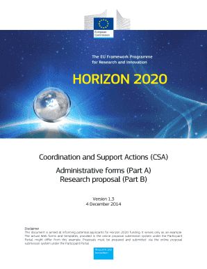 Standard proposal template CSA - European Commission - Europa