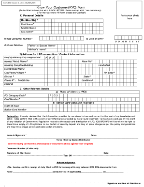 Kyc Form Template