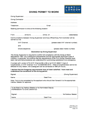 hot works permit template - permit to work forms fill online printable fillable
