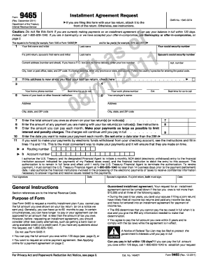 9465 form printable governmental templates to fill out download form 9465 rev form 9465 rev december 2011 department of the treasury internal revenue service installment agreement request if omb no platinumwayz