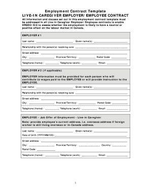 Caregiver Contract Template. 40 great contract templates ...