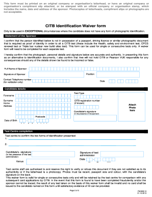 pdf download waiver form citb