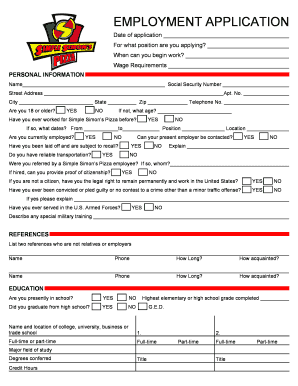 simple simons application form