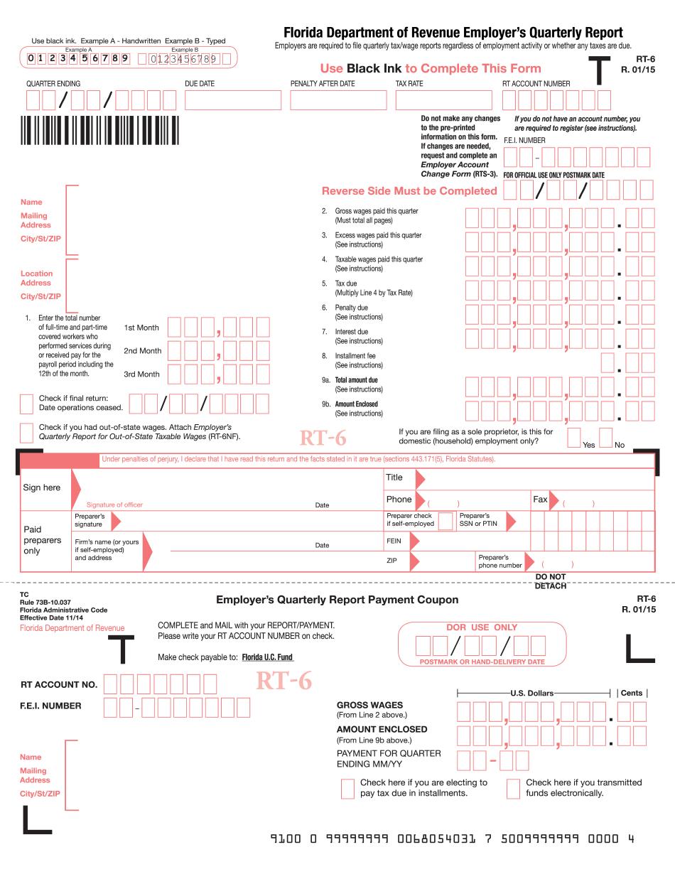 florida rt-6 instructions