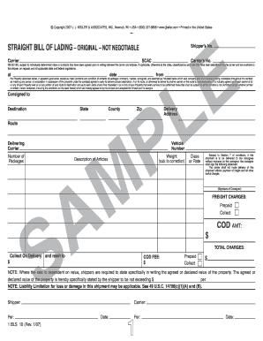 Editable how to fill out a straight bill of lading jj keller