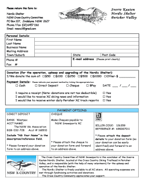 Nordic Shelter Donation Form