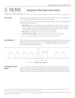 Fillable Online Polyphase Filter Bank Channelizer, v1 0