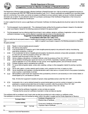 florida department of revenue form dr 97
