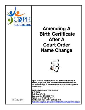 Cdph application after court order name change fill online cdph application after court order name change yadclub Choice Image