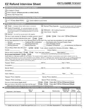eic interview sheet tax form