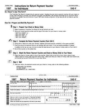 California 540 V Form - Fill Online, Printable, Fillable, Blank ...
