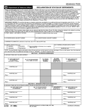 Va Form 21 686c Fillable - Fill Online, Printable, Fillable, Blank ...