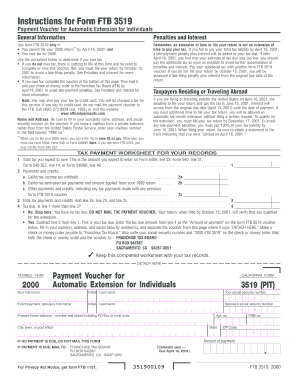 california form 3519 pit