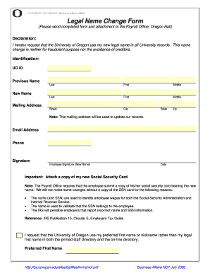 Official Name Change Paperwork - Fill Online, Printable, Fillable ...