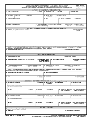 Dd Form 1172 2 Apr 2012 - Fill Online, Printable, Fillable, Blank ...