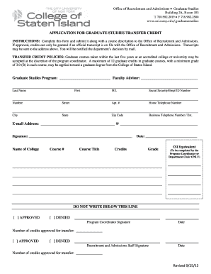 fax number for college of staten island for transcripts form